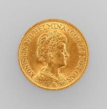 Gold coin, 10 guilder, Netherlands 1912