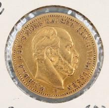 Gold coin, 20 Mark, Germany, 1872