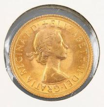 Gold coin, 1 Sovereign, Great Britain, 1967