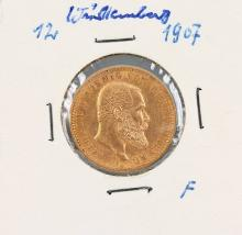 Gold coin, 10 Mark, Germany, 1907