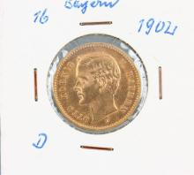 Gold coin, 10 Mark, Germany, 1902