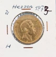 Gold coin, 20 Mark, Germany, 1873