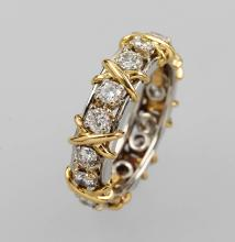 18 kt gold TIFFANY & Co. ring with brilliants