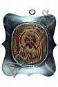 Ikone, Russland, um 1800, Jesus mit Grabtuch,