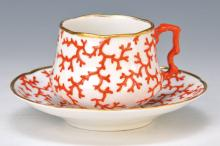 cup with saucer, KPM Berlin, Penny mark, around 1847-49