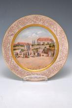 panorama plate, Meissen, around 1800