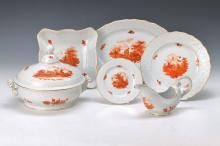 Dinner set, Dresden, around 1910, fine painting