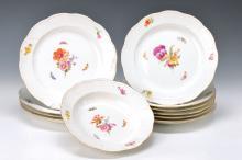 6 dinner plates KPM Berlin, around 1920