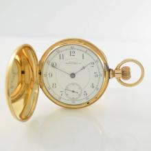 WALTHAM 14k yellow gold hunting cased pocket watch