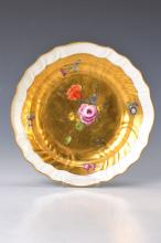 Gold fund plate, Meissen, 1765, flower