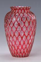 Vase, Austria, 1910, colorless glass