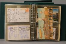 Two postcard albums, Frankfurt, 1920-25