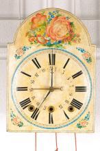 broke-arch clock with quarter-hour strike