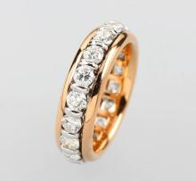 18 kt gold memoryring with brilliants,