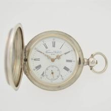 TAVANNES WATCH Co. hunting cased silver pocket watch