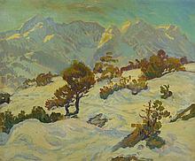 Arnold Balwé, 1898 ? 1983, landscape, oil on canvas