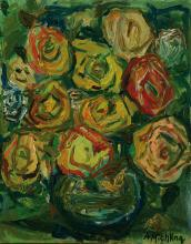 Alfred Michling, 1928 until ?, flower still life, oil on canvas
