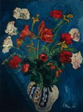 Unknown artist, floral still life, oil  on masonite