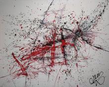 CJVIS (Caroline Vis), Dutch artist, acrylic / mixed media