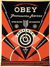 Shepard Fairey, born in 1970, screen print, hand signed