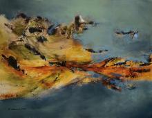 B. Schwend, contemporary artist, oil on canvas