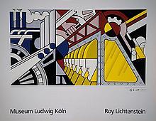 Roy Lichtenstein, 1923-1997, color screen print
