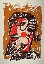 Markus Lüpertz, born 1941, multi colored screen print