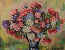 Ernst Zipperer, 1888-1982, floral still life, pastels,
