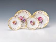 Four plates, KPM Berlin, around 1900