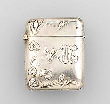 Silver 800 matchstick case, France approx. 1900s