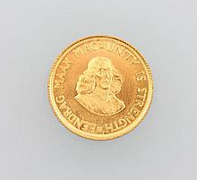 Gold coin, 2 Rand, South Africa, 1973