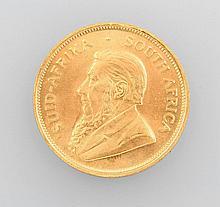Gold coin, Kruegerrand, South Africa, 1974