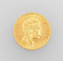 Gold coin, 20 Mark, Germany, 1900