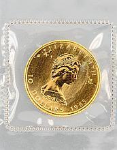 Gold coin, 10 Dollar, Canada 1985