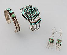 Lot Navajo jewelry set, approx. 1950/60s