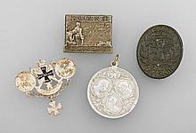 Lot 4 badges respectively medals