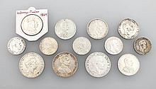 Lot 13 silver coins, Prussia