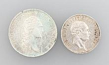 Lot 2 silver coins, Saxony
