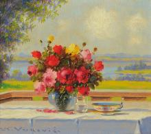 Vukovic, roses on the porch