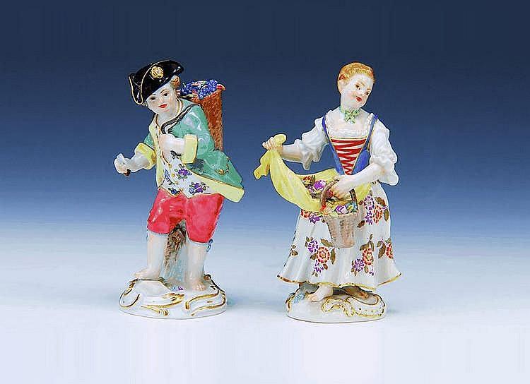 Paar Porzellanfiguren, Meissen, 2.H.20.Jh.,