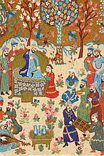 Embroidery, India, circa 40 years old, wool/cotton