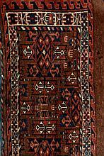Yamut Kepse Torba, Turkmenistan, circa 1920, wool/wool