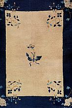 Bejing, China, circa 1900, wool/cotton, approx. 115 x 90