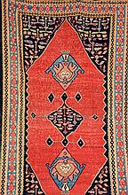 Bijar Kilim, Persia, circa 1930, wool/cotton, approx. 302