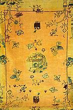 Bejing, China, circa 1900, wool/cotton, approx. 305 x 214