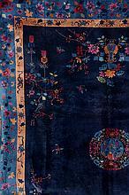 Bejing, China, circa 1900, wool/cotton, approx. 374 x 295