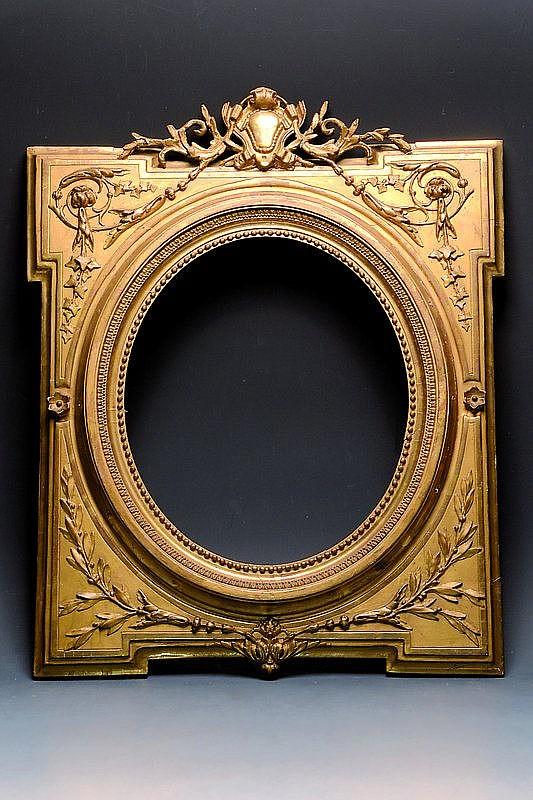 Spiegel, Holzrahmen aufgestuckt, um 1900,