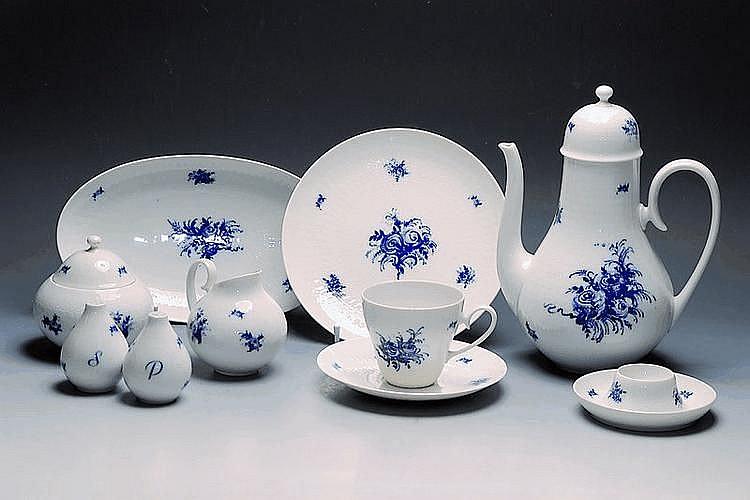 Kaffeeservice, Rosenthal, Romanze in blau, 1960,