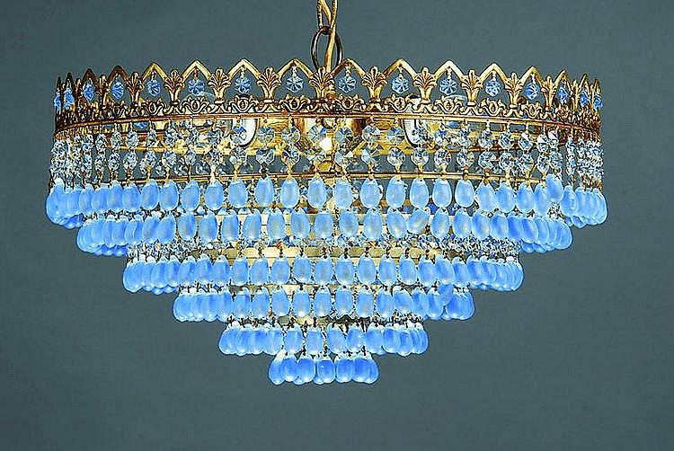 Kristallleuchter, Spanien, ca. 30er Jahre alt, am