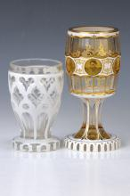 Two glasses, Bohemia, to 1880 and 1930s